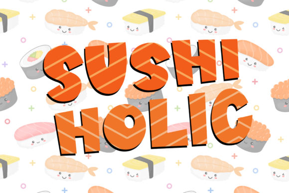 Print on Demand: Sushi Moshi Display Font By dmletter31 - Image 3