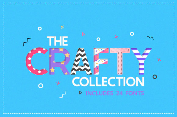 Print on Demand: The Crafty Collection Family Display Font By Salt & Pepper Designs