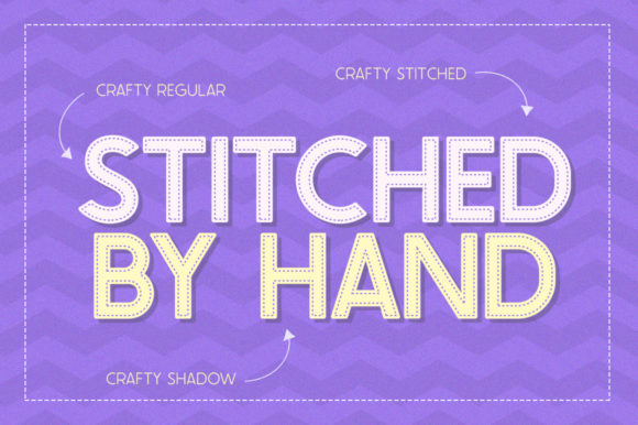 Print on Demand: The Crafty Collection Family Display Font By Salt & Pepper Designs - Image 4
