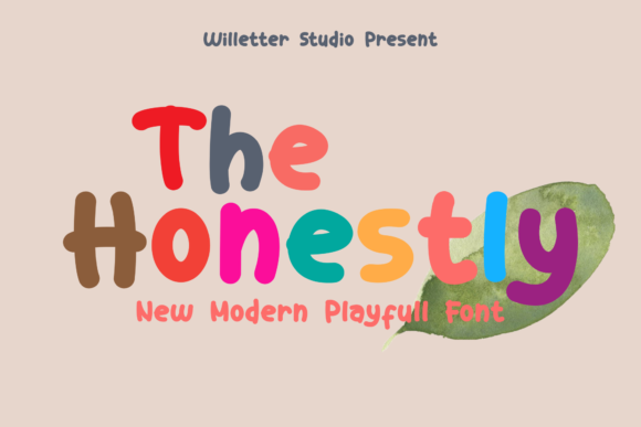 Print on Demand: The Honestly Display Font By Will Letter