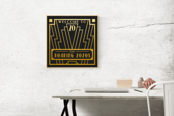 The Roaring 2020s Art Deco Frame Graphic Crafts By DesignedByGeeks