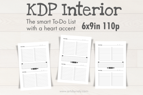 Print on Demand: The Smart to-Do List with a Heart Accent Graphic KDP Interiors By artsbynaty
