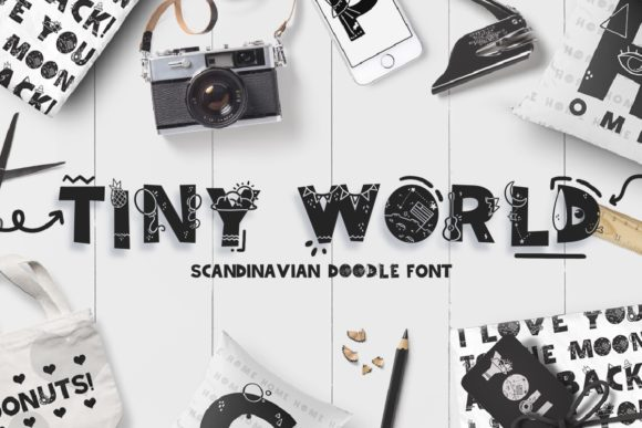 Print on Demand: Tiny World Display Font By Latin Vibes