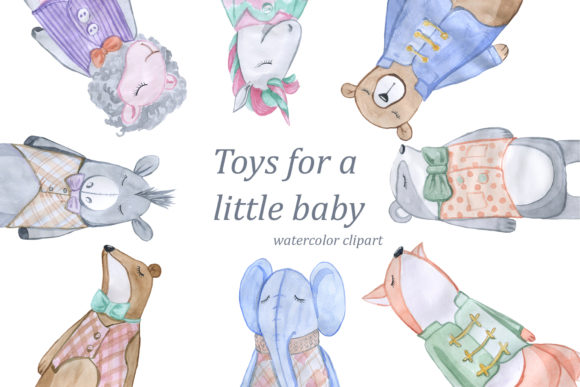 Print on Demand: Toys for a Little Baby Graphic Illustrations By laffresco04 - Image 1