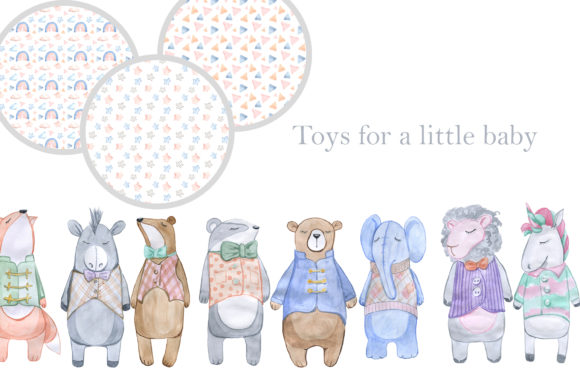 Print on Demand: Toys for a Little Baby Graphic Illustrations By laffresco04 - Image 2
