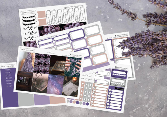 Print on Demand: Ultraviolet Printable Planner Stickers Graphic Print Templates By planfantastic