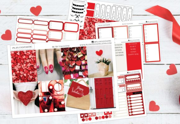 Print on Demand: Valentine Printable Planner Stickers Graphic Print Templates By planfantastic