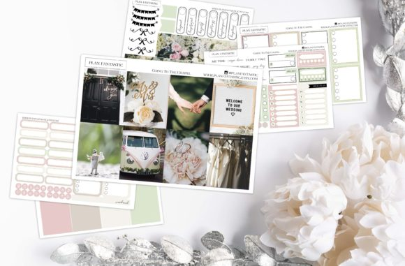 Print on Demand: Wedding Planner Sticker Kit Gráfico Plantillas para Impresión Por planfantastic