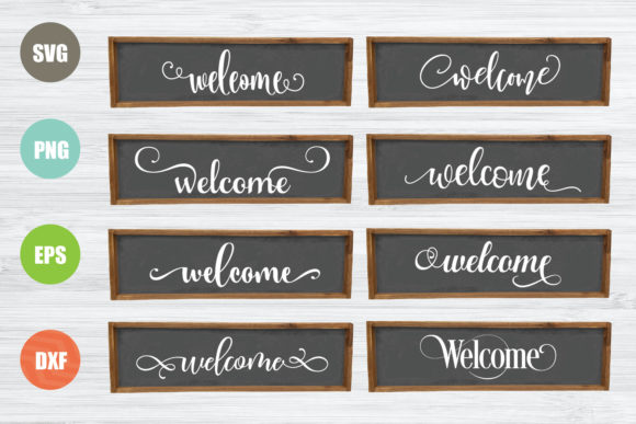 Welcome Sign Bundle Graphic Crafts By logotrain034