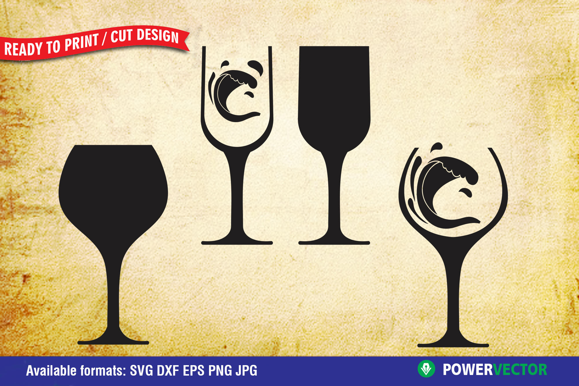 Wine Glass Clipart Graphic By Powervector Creative Fabrica