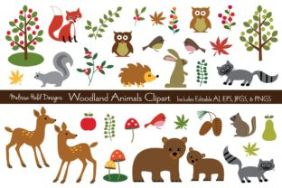 Woodland Animals Clipart Graphic Illustrations By Melissa Held Designs