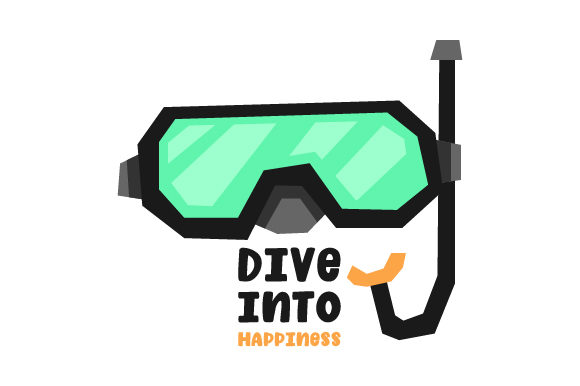 Download Free Dive Into Happiness Svg Cut File By Creative Fabrica Crafts for Cricut Explore, Silhouette and other cutting machines.