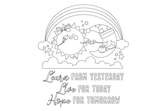 Learn from Yesterday. Live for Today. Hope for Tomorrow Motivational Craft Cut File By Creative Fabrica Crafts