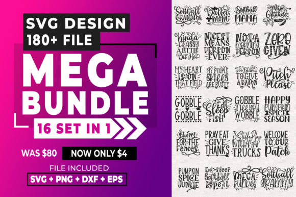 Print on Demand: 180+ Design Mega Bundle Graphic Crafts By SubornaStudio