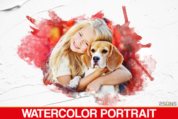 Download Free 30 Watercolor Portrait Masks Photoshop Graphic By 2suns for Cricut Explore, Silhouette and other cutting machines.