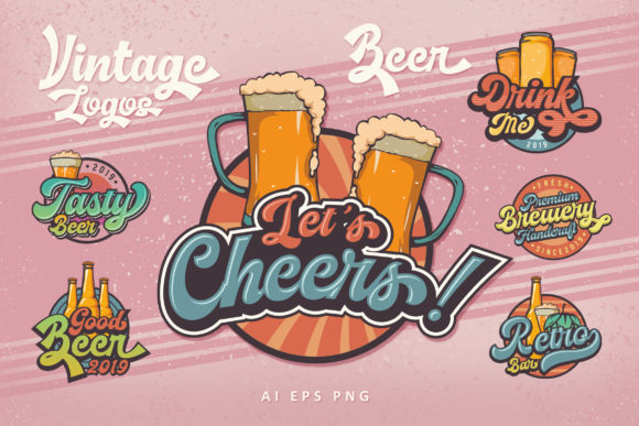 6 Brewery Badges and Logo Graphic Logos By AllmoStudio