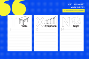 Print on Demand: ABC Alphabet Activity Sheets X 26 Graphic Teaching Materials By MarinovaDesigns