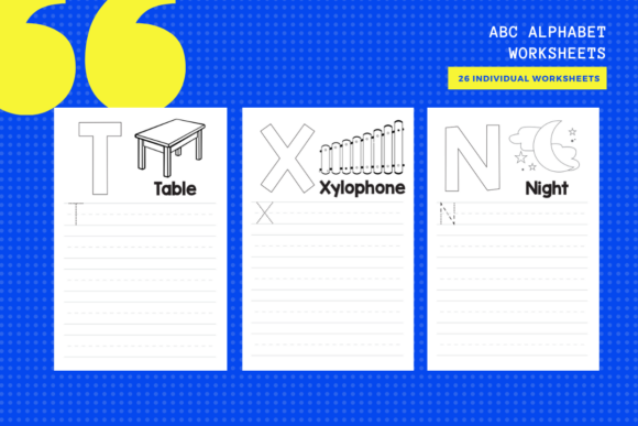 ABC Alphabet Activity Sheets X 26 Graphic Teaching Materials By yumbeehomeschool