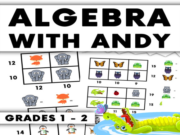 Algebra Problems with Andy Graphic 2nd grade By Saving The Teachers - Image 1