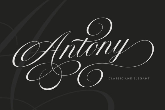 Print on Demand: Antony Script & Handwritten Font By Solidtype
