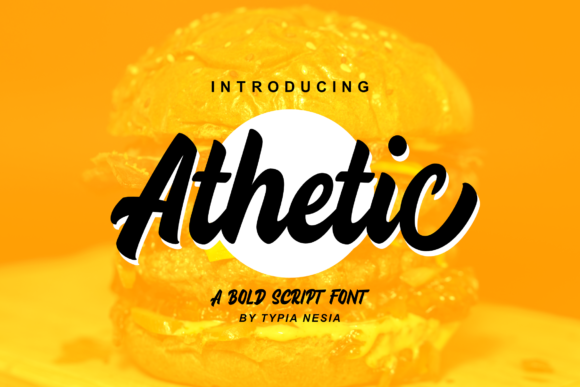 Print on Demand: Athetic Script & Handwritten Font By Typia Nesia