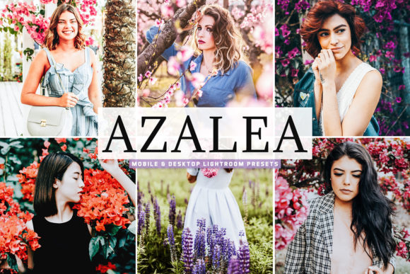 Print on Demand: Azalea Lightroom Presets Pack Graphic Actions & Presets By Creative Tacos