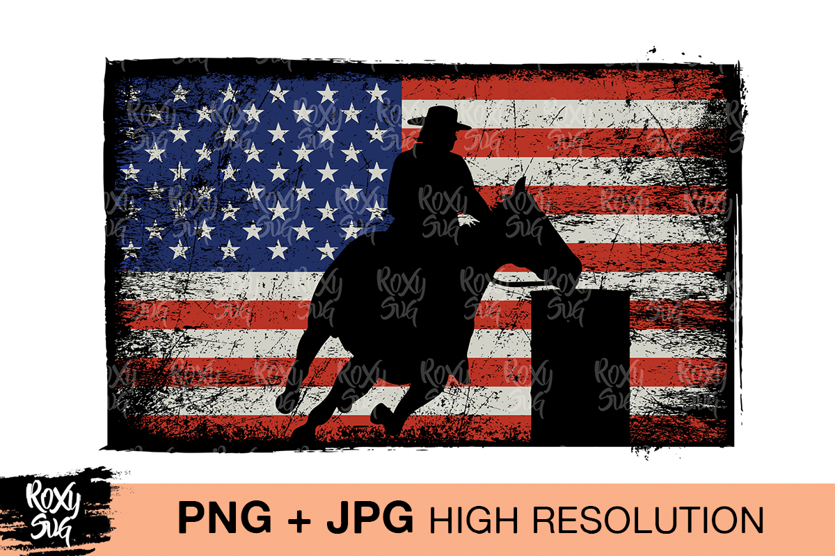Download Free Barrel Racer Flag Graphic By Roxysvg26 Creative Fabrica SVG Cut Files