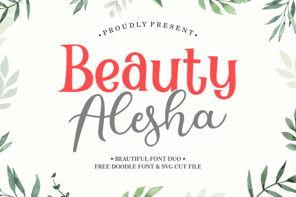 Print on Demand: Beauty Alesha Script & Handwritten Font By Holydie Studio