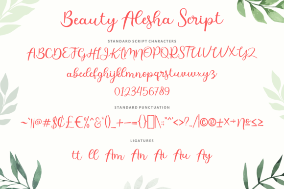 Print on Demand: Beauty Alesha Script & Handwritten Font By Holydie Studio - Image 2