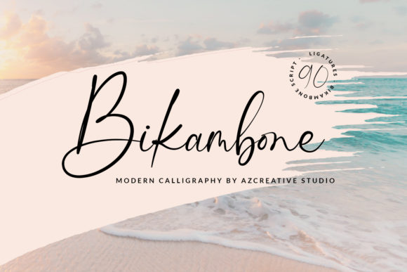 Print on Demand: Bikambone Script & Handwritten Font By Azcreative Studio