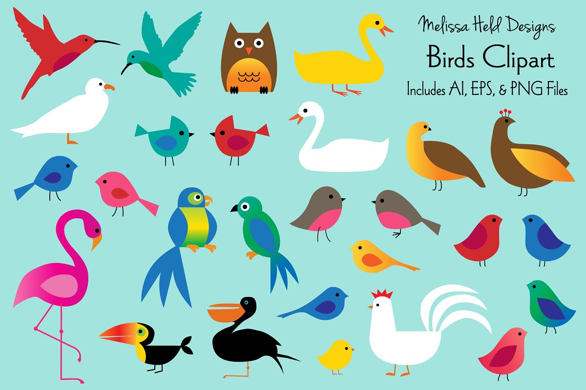 Download Free Birds Clipart Graphic By Melissa Held Designs Creative Fabrica for Cricut Explore, Silhouette and other cutting machines.
