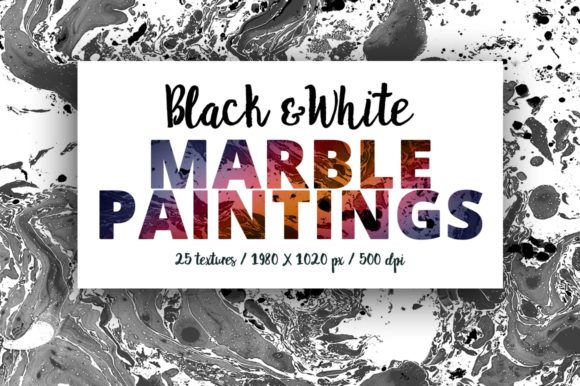 Download Free Black White Marble Paintings Graphic By Smpl Mrkt Creative for Cricut Explore, Silhouette and other cutting machines.