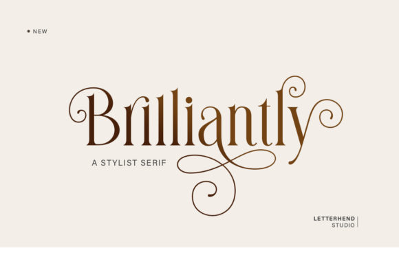 Print on Demand: Brilliantly Serif Font By letterhend - Image 1