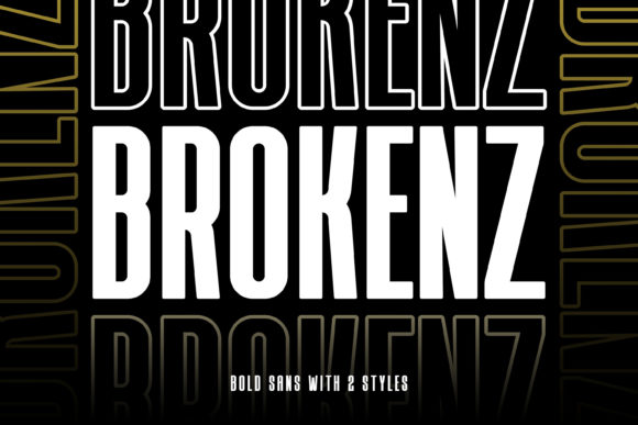 Print on Demand: Brokenz Sans Serif Font By almarkhatype