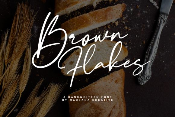 Print on Demand: Brown Flakes Manuscrita Fuente Por Maulana Creative