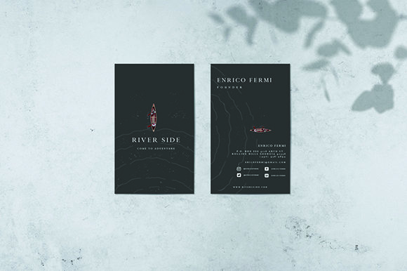 Business Cards Graphic Print Templates By rzkaamalya