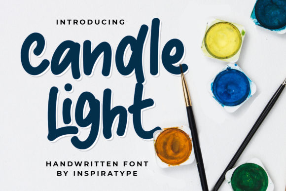 Print on Demand: Candle Light Display Font By InspiraType - Image 1