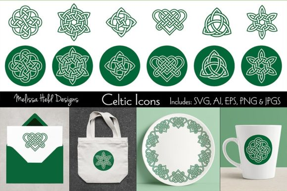 Celtic Knot Icons Graphic Illustrations By Melissa Held Designs