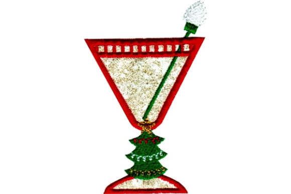 Christmas Cocktail Christmas Embroidery Design By Sue O'Very Designs