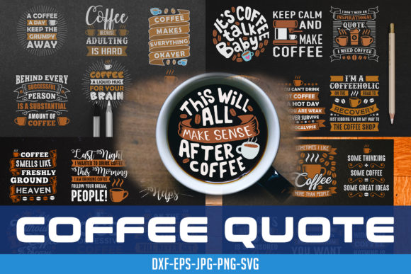 Download Free Coffee Quote Good For Mug Graphic By Tosca Digital Creative for Cricut Explore, Silhouette and other cutting machines.