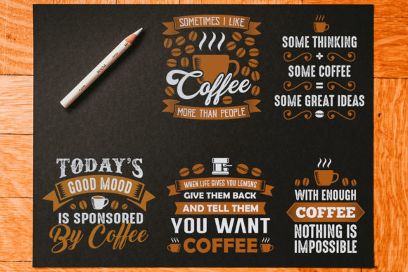 Coffee Quotes Crafts Vol 9 Graphic By Tosca Digital Creative