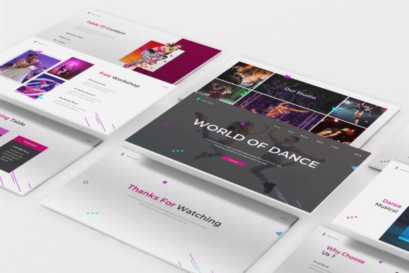 Dance Powerpoint Template Graphic Presentation Templates By formatikastd
