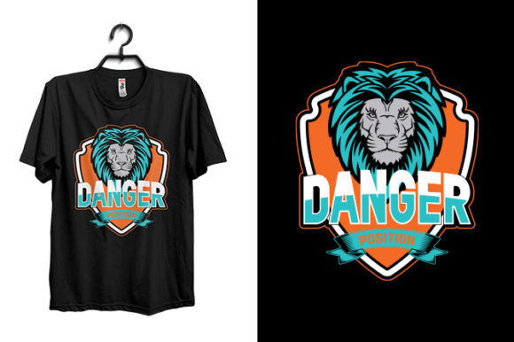 Danger T-Shirt Design Template Graphic Print Templates By Storm Brain