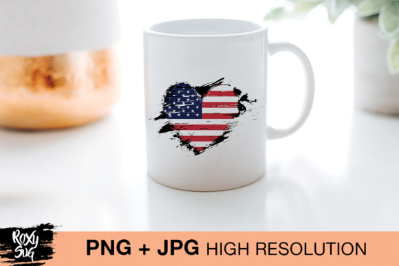 Print on Demand: Distressed American Flag Graphic Crafts By roxysvg26 - Image 2