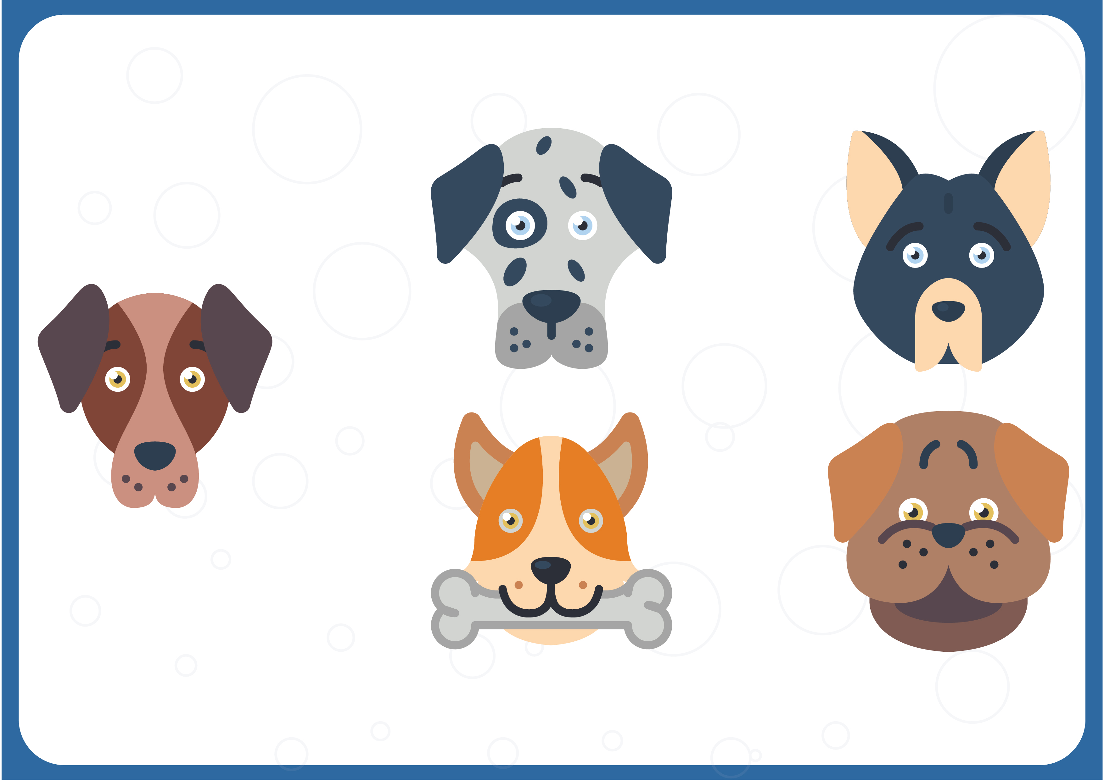 Download Free Dog Avatars Graphic By Colorkhu123 Creative Fabrica for Cricut Explore, Silhouette and other cutting machines.