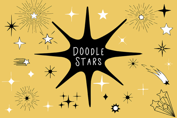 Doodle Stars Graphic Illustrations By carrtoonz