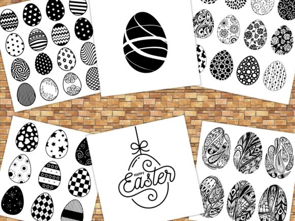 Print on Demand: Easter Eggs Crafter's Bundles Graphic Crafts By ermannofficial