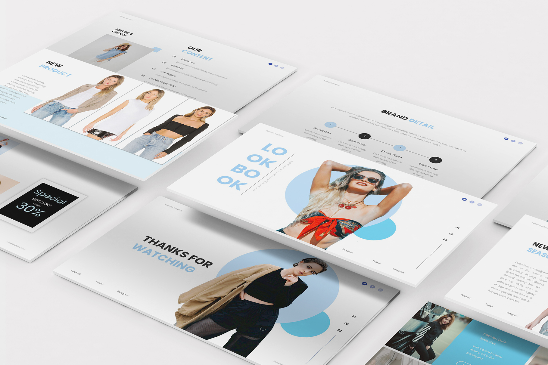 Download Free Fashion Lookbook Keynote Template Graphic By Formatikastd for Cricut Explore, Silhouette and other cutting machines.