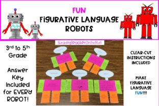 Figurative Language Robot Graphic 3rd grade By Reading Teacher On The Run