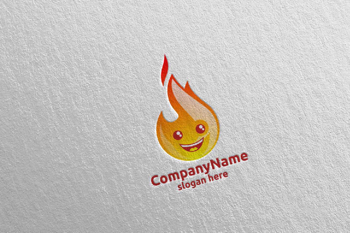 Download Free Fire And Flame Cute Face Logo 15 Graphic By Denayunecf for Cricut Explore, Silhouette and other cutting machines.